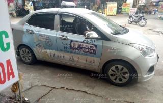 quảng cáo 4 cánh cửa taxi sao hà nội
