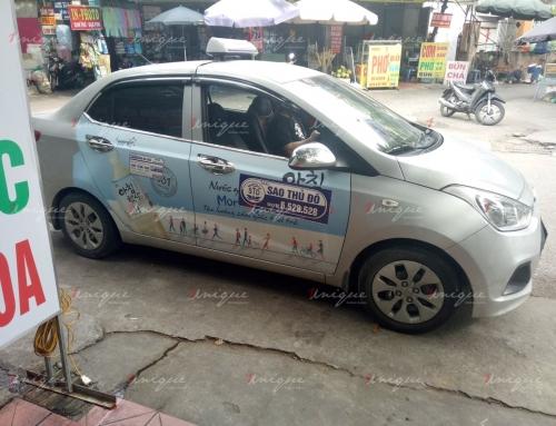 Tiềm năng của hình thức quảng cáo trên 4 cánh cửa taxi Sao Thủ Đô