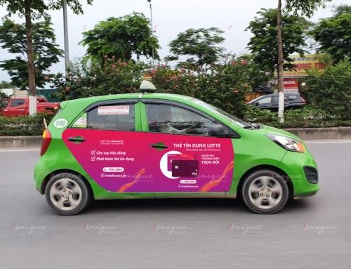 Quảng cáo trên 4 cánh cửa xe taxi Open99 đầy mới lạ và hiệu quả