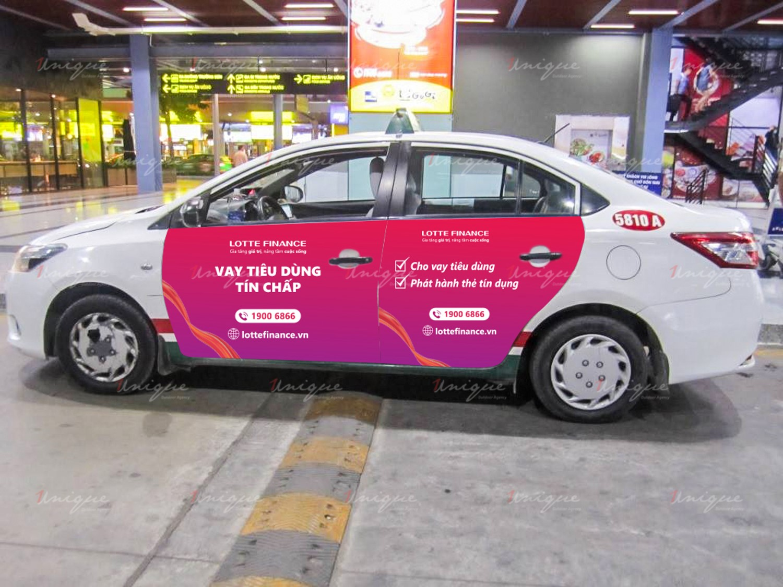 quảng cáo trên 4 cánh cửa xe taxi VinaSun