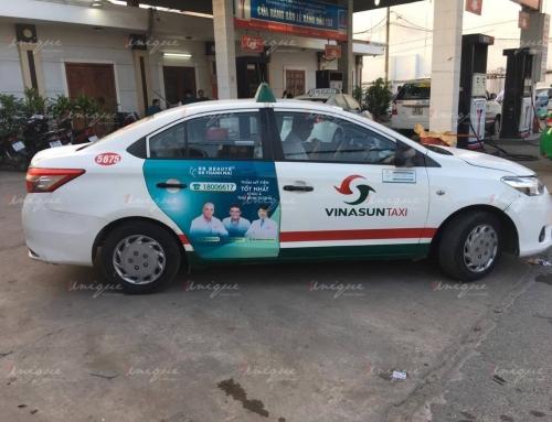 BB Thanh Mai quảng cáo trên xe taxi với maquette mới nổi bật