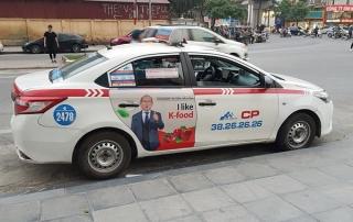 Park Hang Seo quảng cáo trên taxi