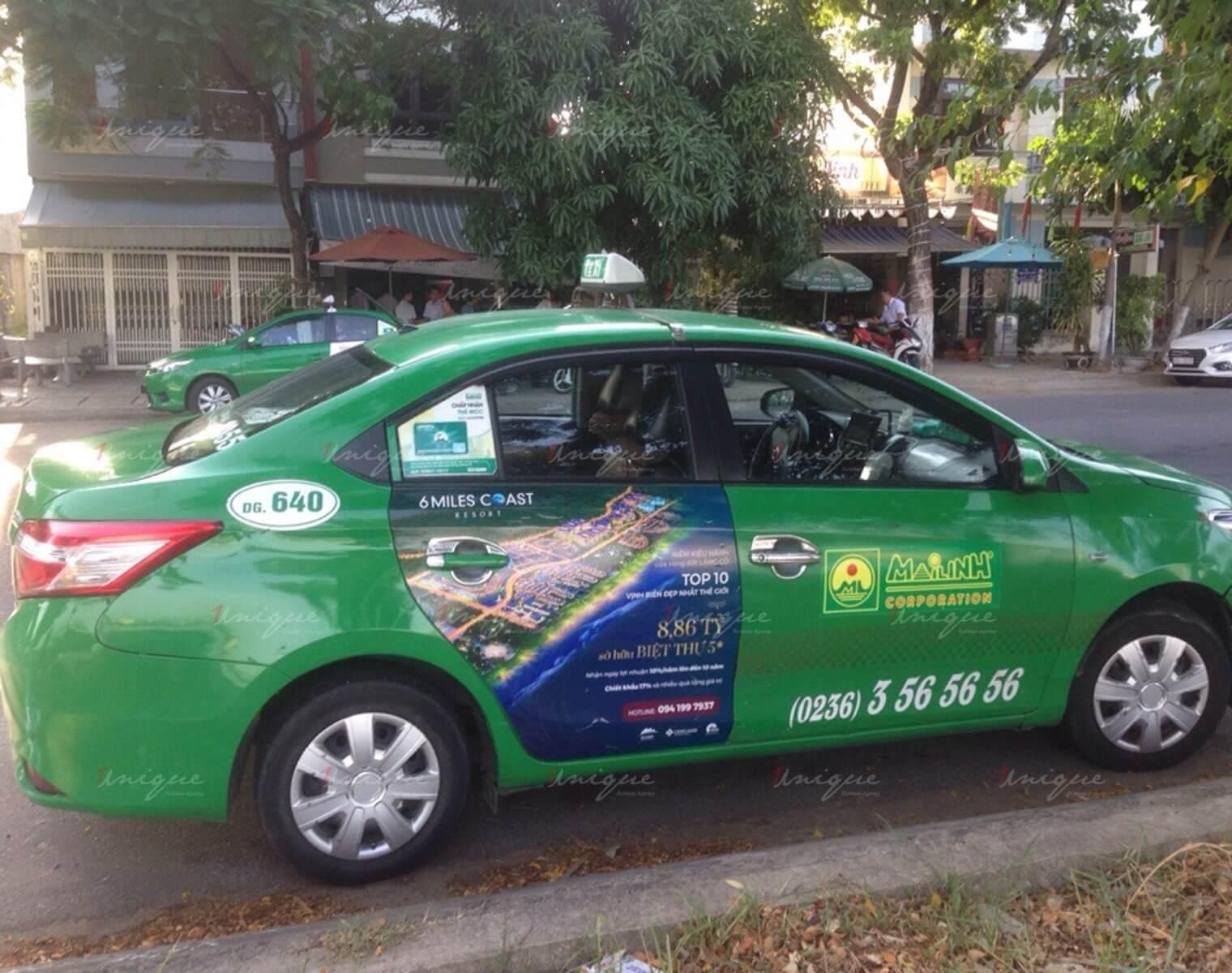 quảng cáo trên taxi cho cenland