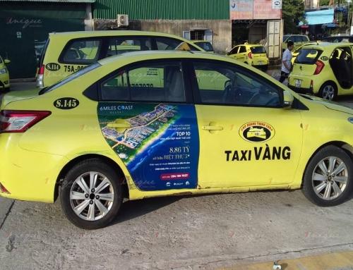 6 Miles Coast Resort ra mắt với chiến dịch quảng cáo trên taxi