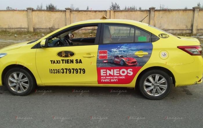 eneos quảng cáo trên taxi