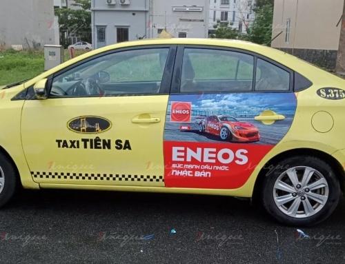 ENEOS quảng cáo trên taxi khẳng định vị thế thương hiệu