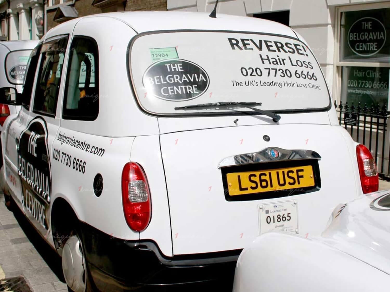 Các hình thức quảng cáo trên taxi tại Anh Quốc
