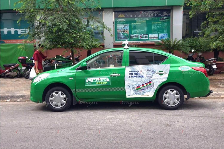 quảng cáo taxi mùa dịch corona