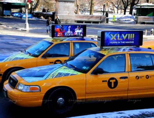 Hướng đi mới của Taxi Advertising trên thế giới: Quảng cáo màn hình Led trên nóc xe taxi