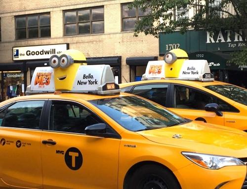 """Minions """"náo loạn"""" thành phố New York bằng chiến dịch quảng cáo taxi sáng tạo"""