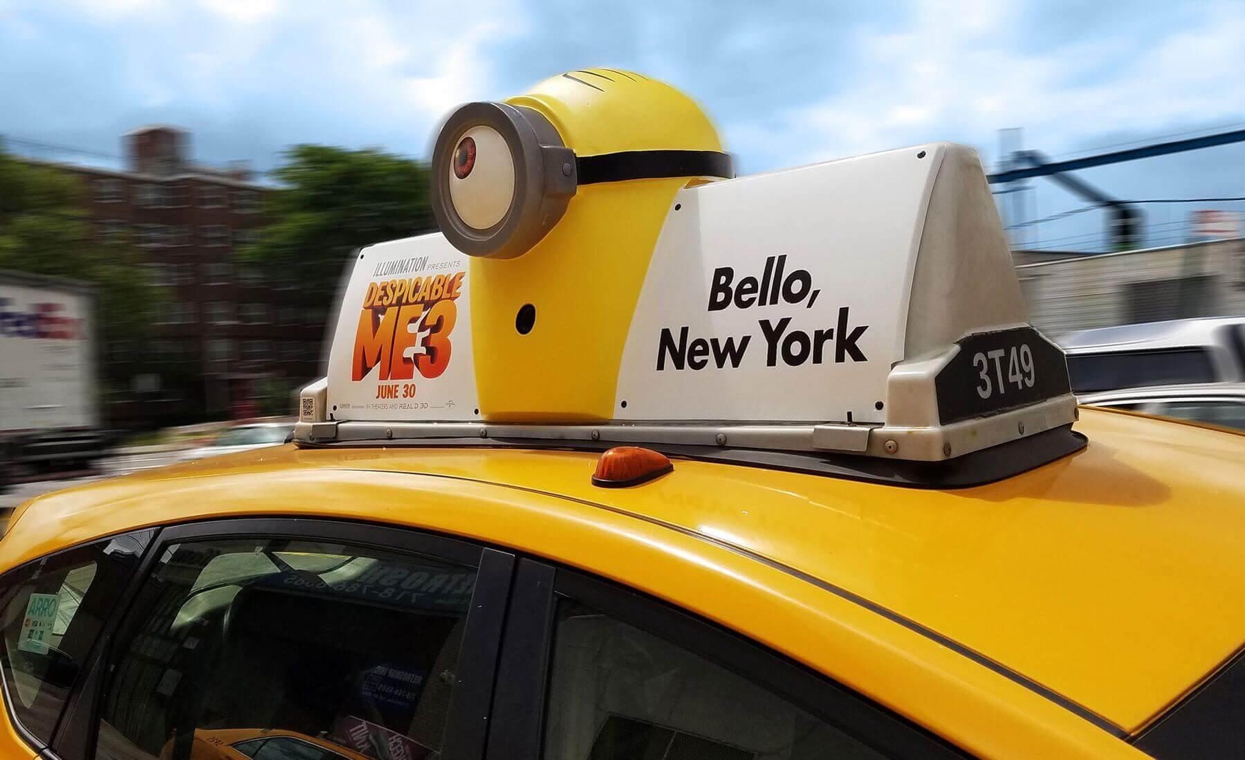 Chiến dịch quảng cáo taxi sáng tạo của Despicable Me