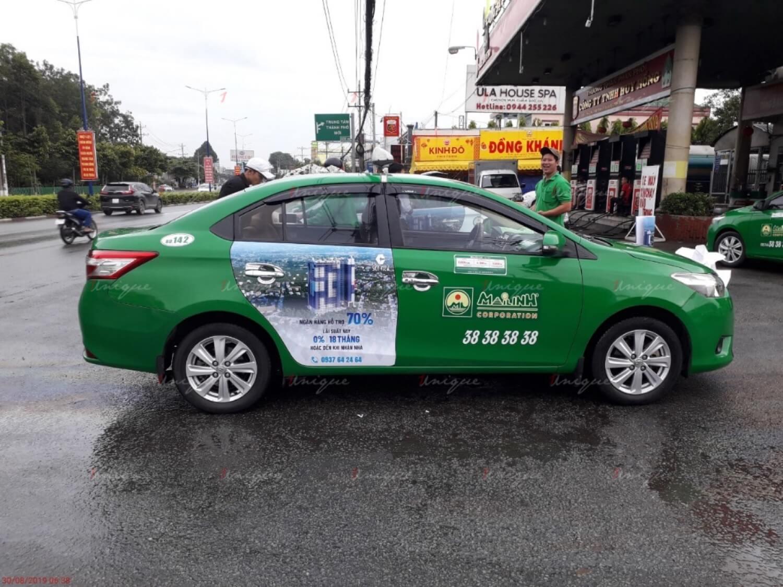 Lưu ý cho ngành bất động sản khi quảng cáo trên xe taxi