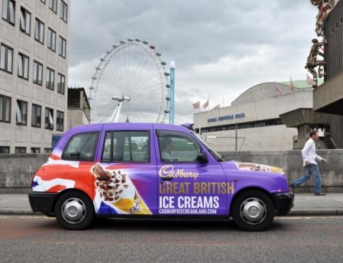 Những quảng cáo thú vị nhất trên xe taxi