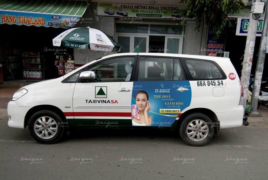 quảng cáo trên taxi tại Cần Thơ