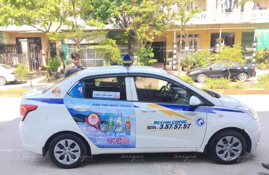 quảng cáo taxi tại cà mau