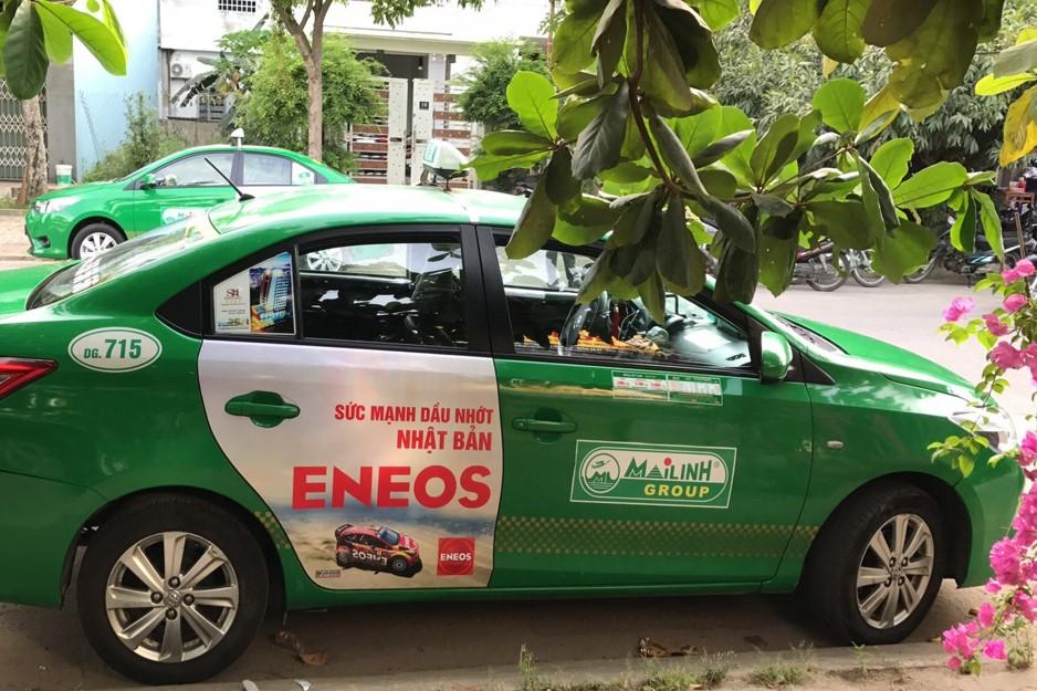 Quảng cáo trên taxi Quảng Ninh