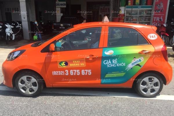 quảng cáo taxi hoàng sa