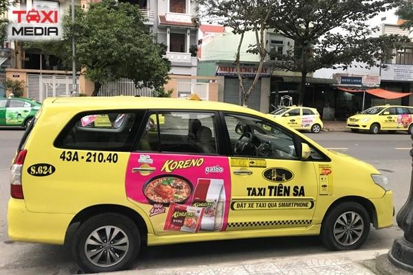 Quảng cáo trên taxi Tiên Sa tại Đà Nẵng