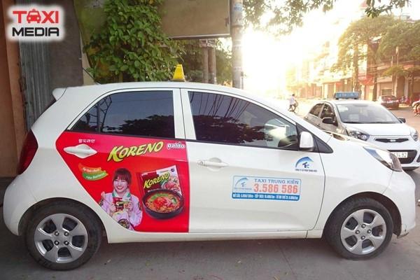 Quảng cáo trên taxi Trung Kiên ở Hải Phòng