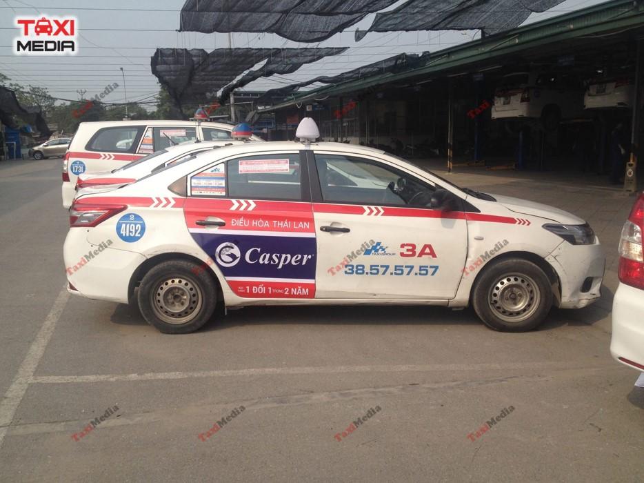 dự án quảng cáo điều hòa casper trên taxi