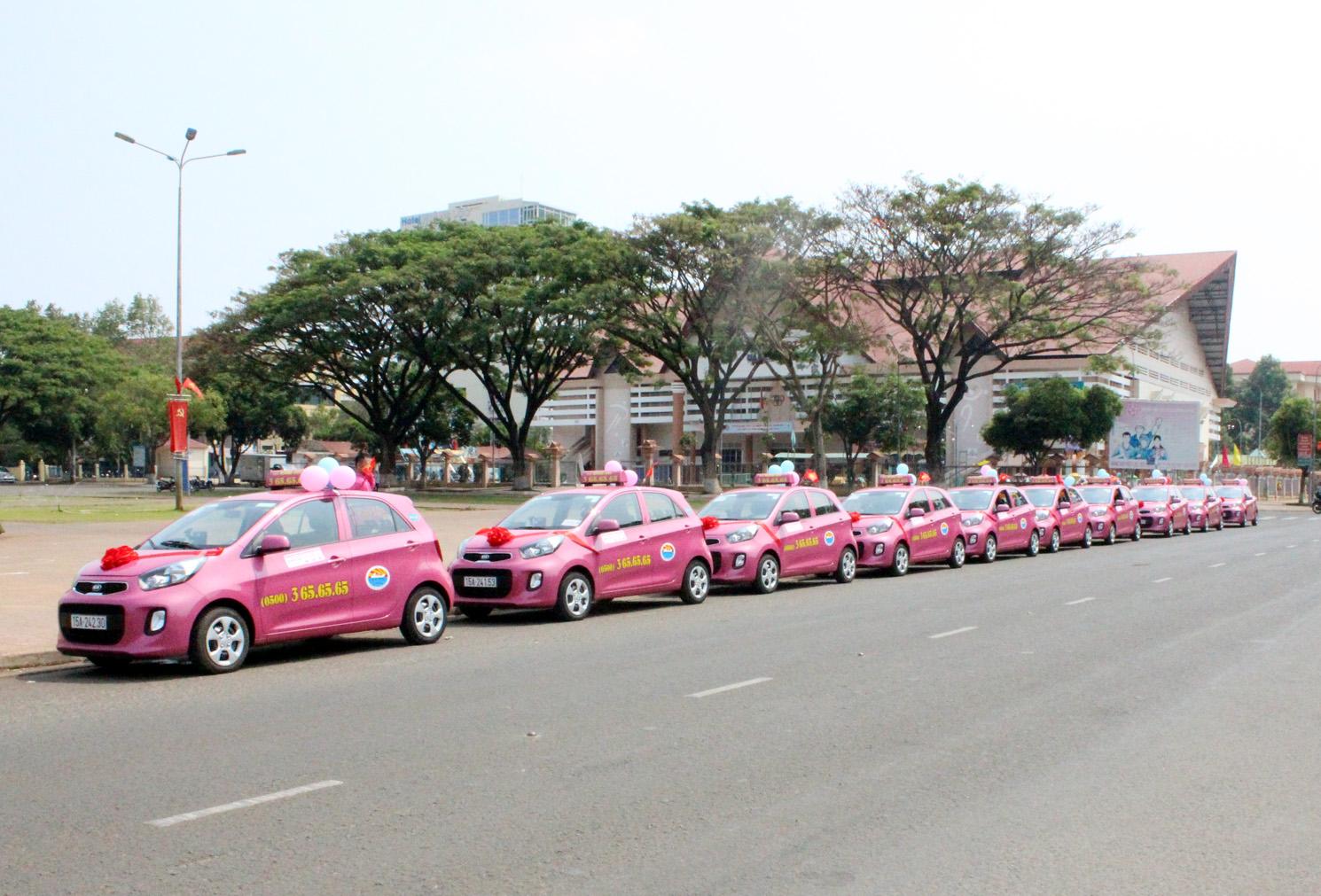 quảng cáo trên xe taxi Hoàng anh tại Hải Phòng