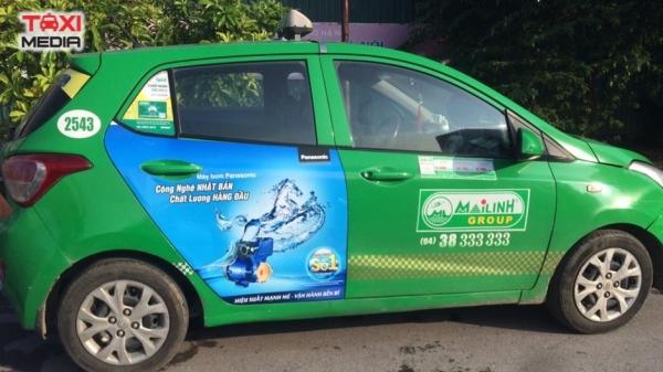 dán quảng cáo trên xe taxi