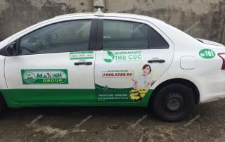 quảng cáo trên taxi tại quảng ninh