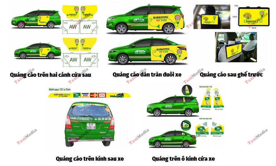 vị trí quảng cáo trên taxi