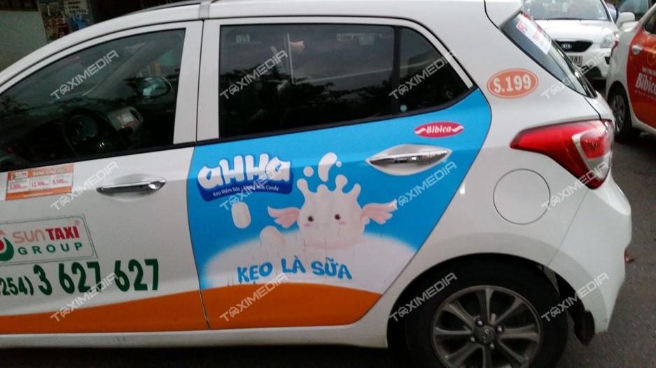 quảng cáo trên sun taxi