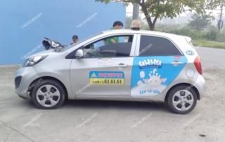 quảng cáo trên xe taxi tại Nam Định