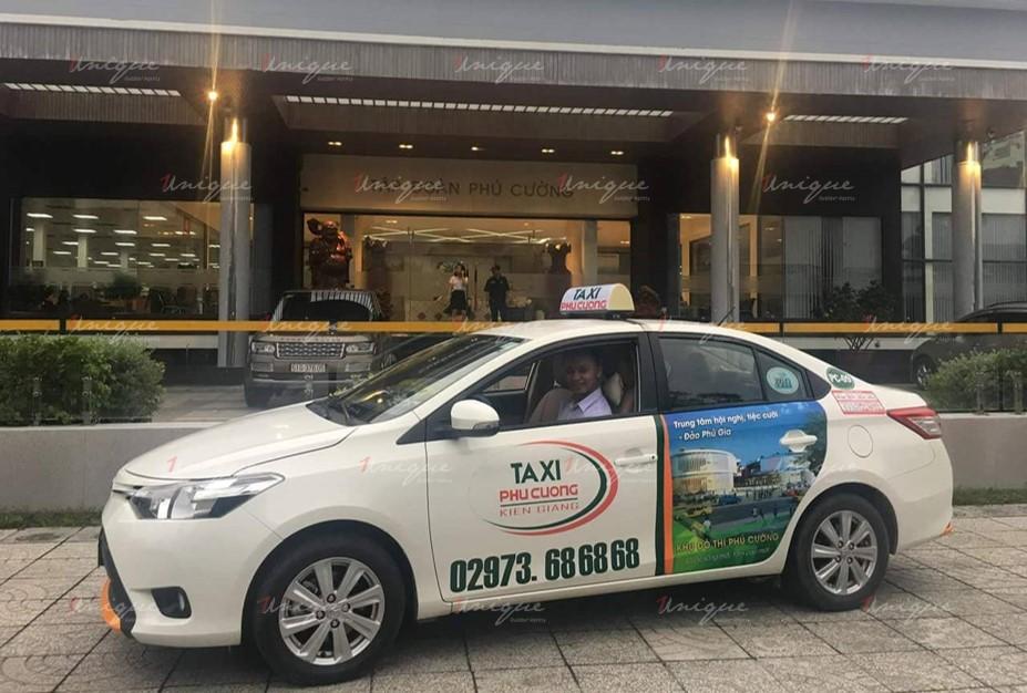 quảng cáo taxi tại kiên giang