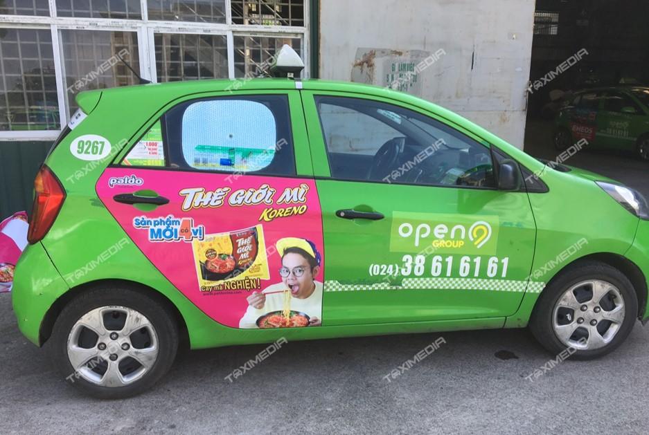 quảng cáo trên taxi tại tây ninh
