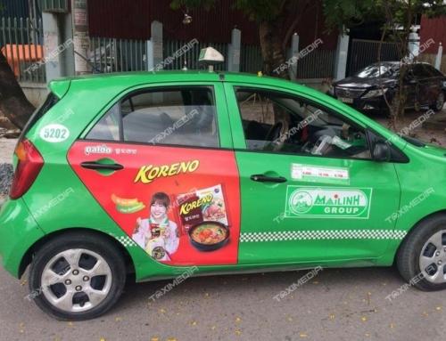 Mới lạ hình thức quảng cáo trên xe taxi tại tỉnh Điện Biên