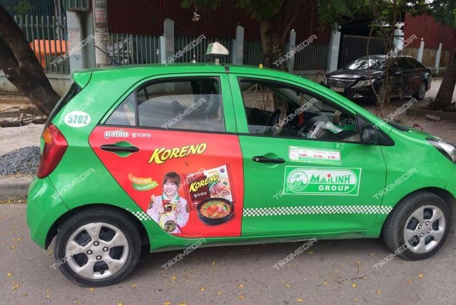 quảng cáo trên taxi tại điện biên