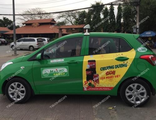 Truyền thông thương hiệu với quảng cáo trên xe taxi tại Đồng Tháp