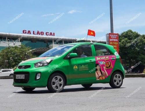 Quảng cáo trên xe taxi tại Lào Cai ấn tượng và hiệu quả