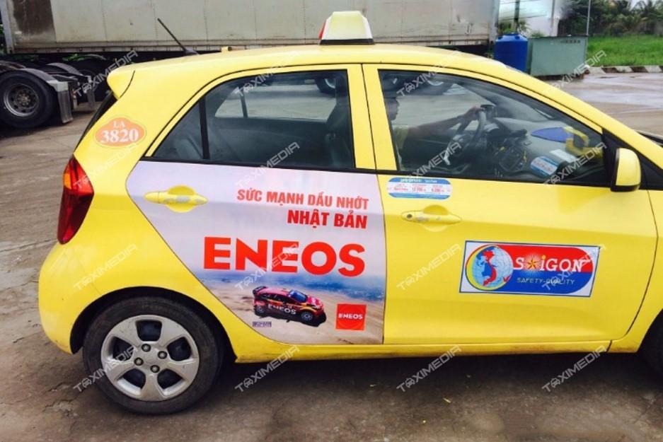 quảng cáo trên taxi tại Long An