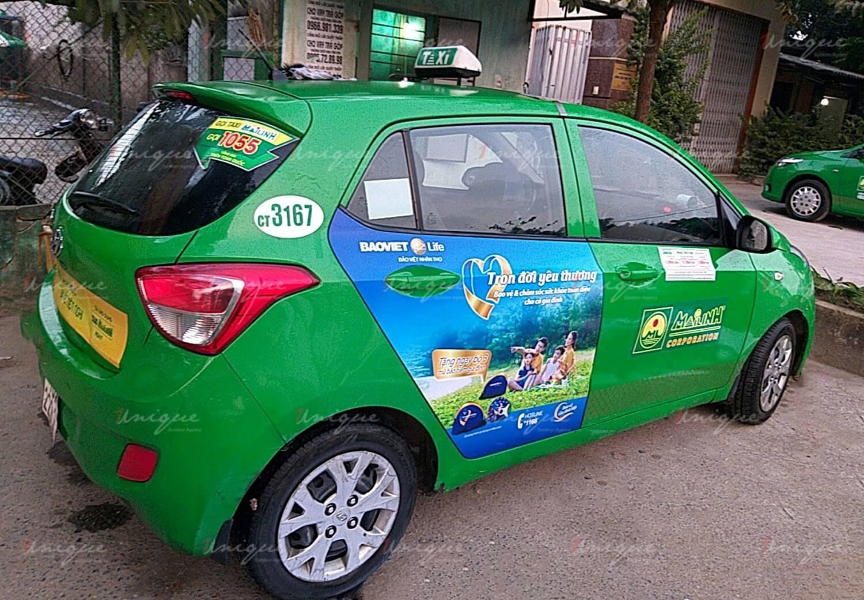 Bảo Việt Life quảng cáo trên xe taxi