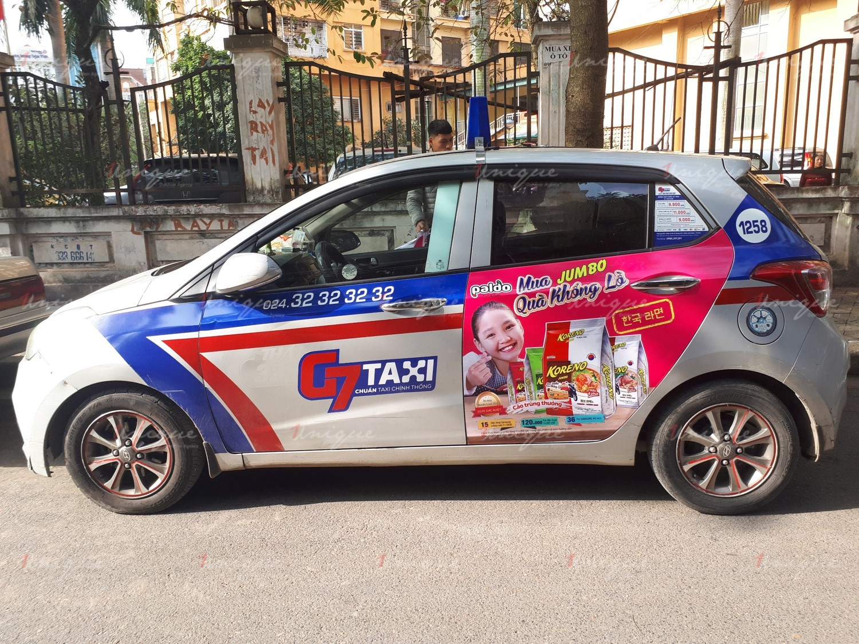 chương trình khuyến mãi quảng cáo trên taxi