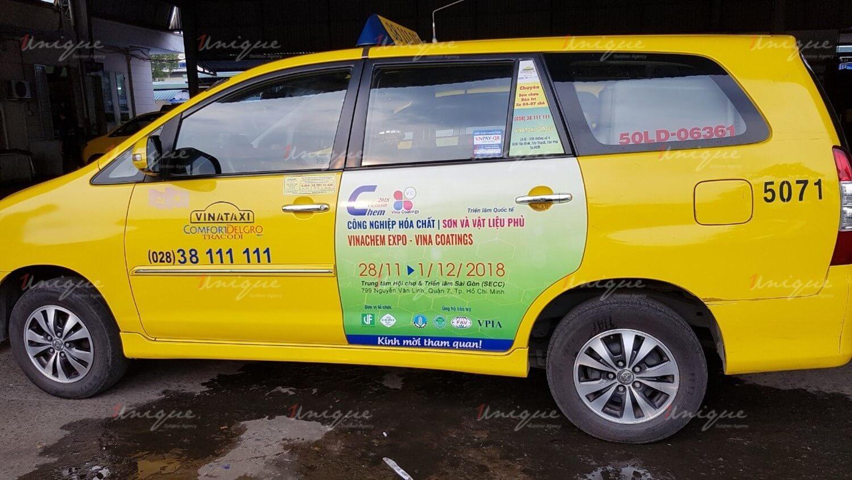 quảng cáo trên vinataxi truyền thông cho triển lãm quốc tế ở TP. HCM