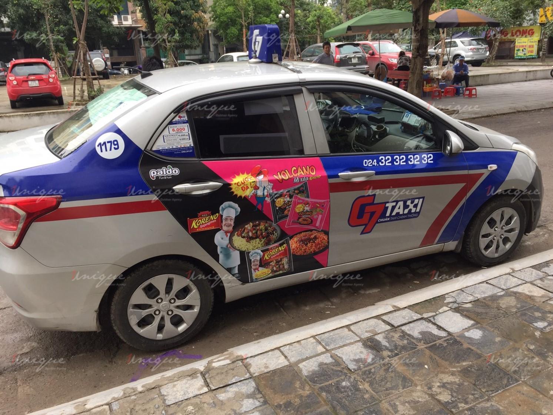 Chiến dịch quảng cáo trên xe taxi ra mắt sản phẩm mỳ Koreno Volcano