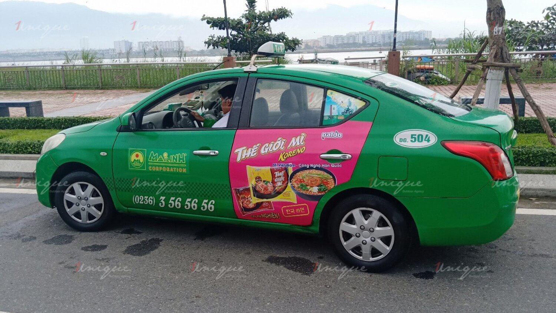 Quảng cáo trên taxi tại Vĩnh Phúc