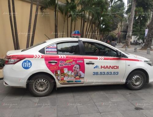 Quảng cáo trên taxi Group ở Hà Nội và các tỉnh thành phía Bắc