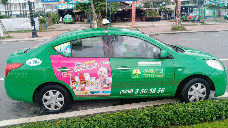 quảng cáo trên xe taxi tại Sơn La