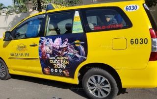 quảng cáo trên taxi cho soha game