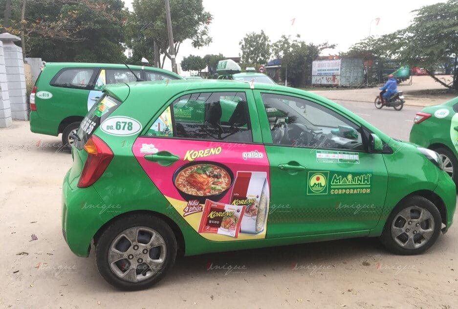 quảng cáo trên taxi Hải Phòng