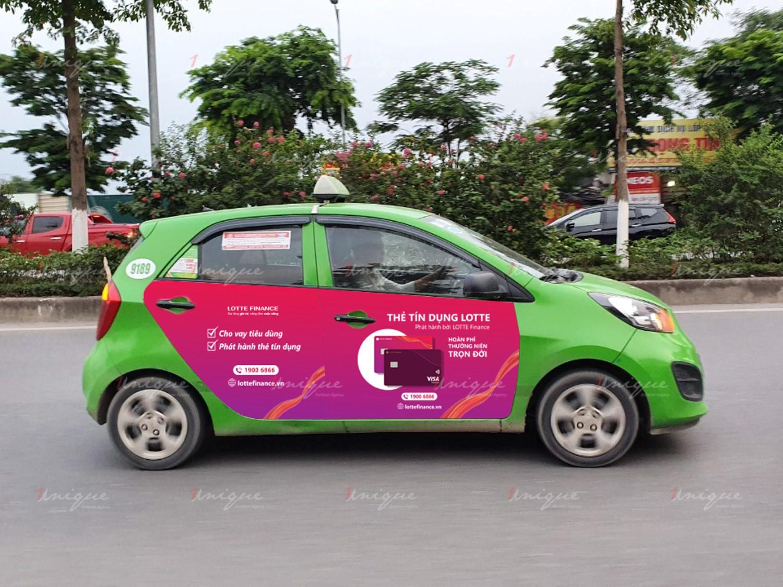 quảng cáo taxi 4 cánh