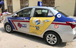 quảng cáo taxi cho sữa non pháp