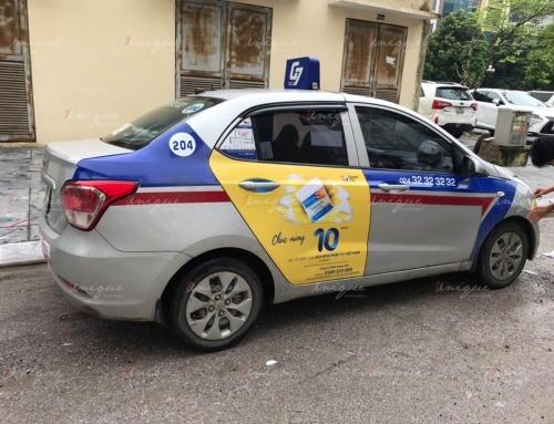 Chiến dịch quảng cáo trên taxi cho sữa non Pháp tại Hà Nội