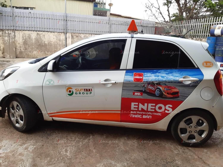 Phủ sóng thương hiệu với quảng cáo trên taxi tại Quảng Nam